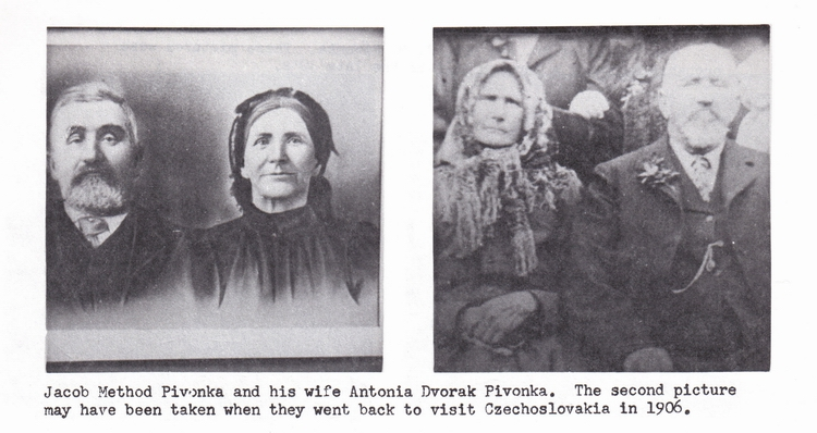 Photos of JM and Antonia D Pivonka, ca. 1906-9